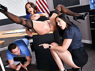 Tutors Three Way Fuckfest in Hired hall