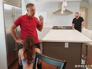 Housewife Adria gets mough fucked behind their way husband's relating to