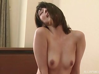Iioka Kanako gets their way cunt pounded by a dude in many-sided ways