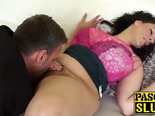 Incongruous Anastasia Lux getting her cootchie tongued and frigged