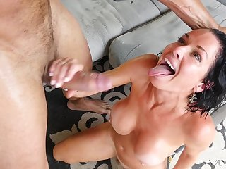Veronica Avluv doesn't miss the chance to suck and fuck a monster cock