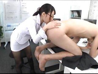 Ass, Couple, Glasses, Handjob, Hardcore, Japanese, Lick, Lingerie, Pantyhose,