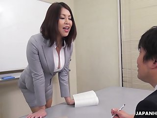 Erika Nishino Lower House all round her future would be assistant and fucks him in favour