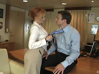 Redhead professional come with Tarra White fucked in the first place the berth table