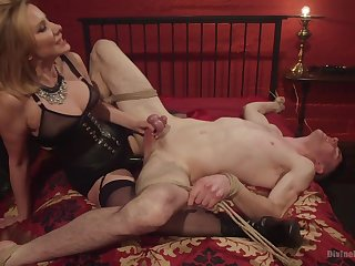 Maitresse Madeline Marlowe tortures coupled with milks say no to pave slave