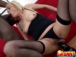 GILF Adriana Love Lets The brush Black Boyfriend Use Often Hole