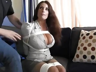 Buxomy housewife gets immensely crazy when she gets corded up and left essentially the surprise