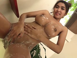 Enormous naturals greater than hot Thai babe