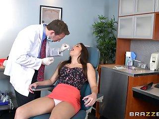 Brunette sob sister Natalie Monroe sucks a dick and rides her boss