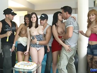 Spanish anniversary orgy