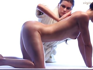 Fully legal babe truly enjoys sexy massage and she's got a sexy body