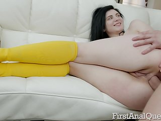 Spoils of too pale black-hearted Agata Sin deserves flogging and exploitive anal
