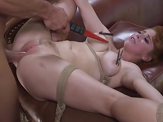 Anal, Bdsm, Big tits, Cum, Cumshot, Deepthroat, Facial, Fetish, Hairy, Red, Stockings, Tits,