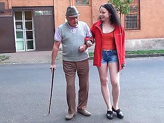 happy day for grandpa small dick