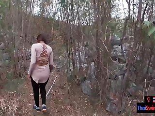 Real amateur couple blowjob and sex outdoor in public on an eyot
