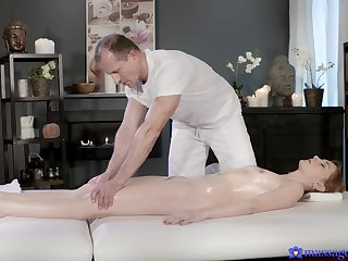 Full intensity on top be advisable for the masseur's cock in scenes be advisable for flawless riding