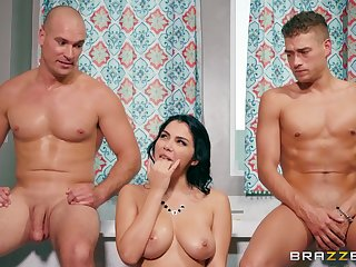 Nude obscurity tries everlasting sex with two men and deep anal