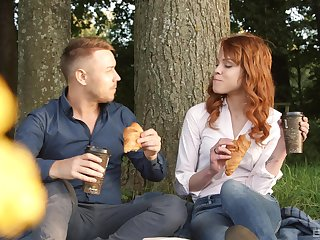 Redhead hottie Mary Solaris gets her legs on a delectable cock