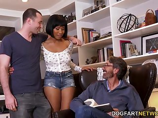 Meeting BF's stepfather rubble with hardcore double deepness threesome