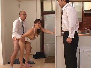 Passionate fucking on burnish apply sofa to nice tits Asian girl Kurata Mao