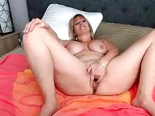 Dildo solo 49 years BBW housewife with fat boobs