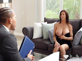 Hot student's mommy Alexis Fawx spreads legs wide open and teases with yummy pussy upskirt